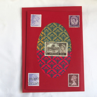 Elisabeth II  - Stamp Series of Collage Cards. Blank inside.
