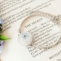 real forget me not flower bracelet for nature lover