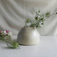 "Rounded ""Beehive"" Shaped Ceramic Vase"