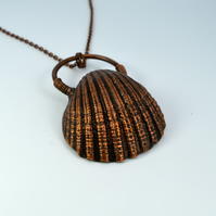 Big Seashell copper necklace