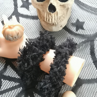 Black Fluffy Hair Scrunchie -  Bargain Bin Now Only 2 quid