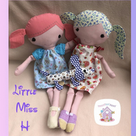 Little Miss H Handmade Doll