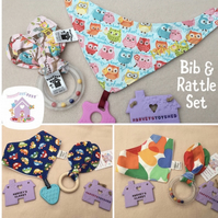 Bib and Teether Gift Set