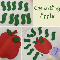 Counting Apple and Worms PlaySet