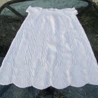 Christening Gown, Lace Design, Hand Knitted, 3ply yarn, 0-9 months, 18 inch