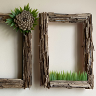 Forest Moss Picture Frame made from fern stems and artificial grass.