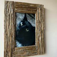 Brushwood Picture Frame made from dry stems.