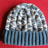 "Denim blue multi hat for men, women and teens - fits 22"" to 24"" head"