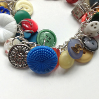Colourful Vintage Charm Bracelet