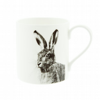 British Hare Fine Bone China Mug - FREE UK DELIVERY - Large Hare Mug