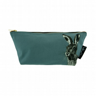 Hare Luxury Wash Bag - Dusk Green - FREE UK DELIVERY