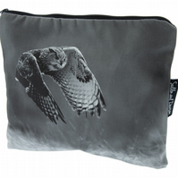 Eagle Owl Luxury Large Wash Bag - FREE UK DELIVERY - Monochrome