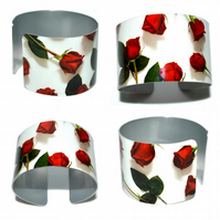 CLEARANCE SALE - Red Rose lightweight cuff bangle