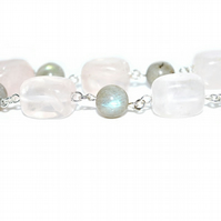 Rose Quartz and Labradorite necklace