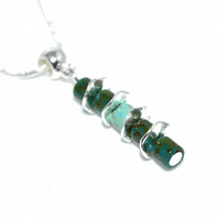 Two colour Turquoise necklace, December birthstone jewellery