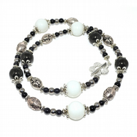 Black Bamboo and Onyx necklace