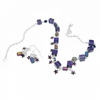 Purple star jewellery set - perfect for a magical evening