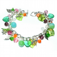 Shimmer charm bracelet with Summer colours