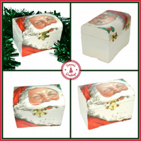Santa rustic wooden box
