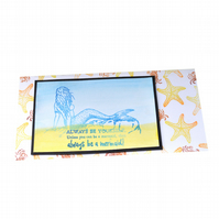 Mermaid stamped greeting card - Tall DL size