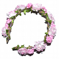 Pink flower headband tiara, perfect for a bridesmaid or bride