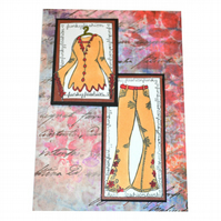Funky Fashion - perfect greeting card for a teen