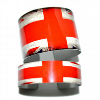 Wide Union Flag lightweight cuff bangle