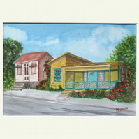 Chattel Houses, Barbados - original watercolour painting