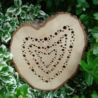 """For The Love of Bees"" Unique Heart Shaped Bee Hotel"
