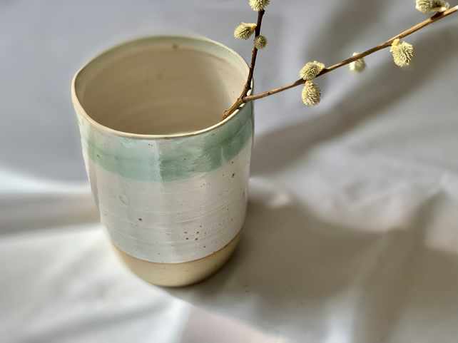 Hand Thrown Utensil Holder or Vase