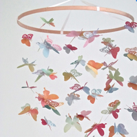 Watercolour butterfly nursery mobile