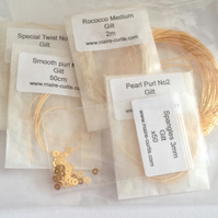 Traditional Goldwork Wires Pack