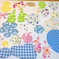 Fabric Easter cut outs for applique, card making and craft