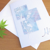Hello Greeting Card in watercolour design