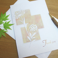 Thank You watercolour greetings card