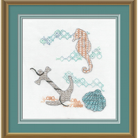 Blackwork Embroidery Kit - Under The Sea
