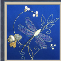 Goldwork Embroidery Kit - Tara Dragonfly
