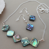 Abalone handmade jewellery set - Autumn 2019.