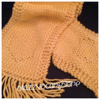 Hand Knitted Yellow Chunky Heart Scarf