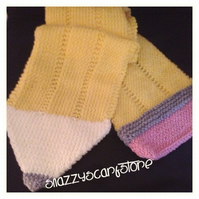 Hand Knitted Snazzy Pencil Scarf