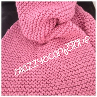 Chunky Pink Jumbo XL Knitted Scarf