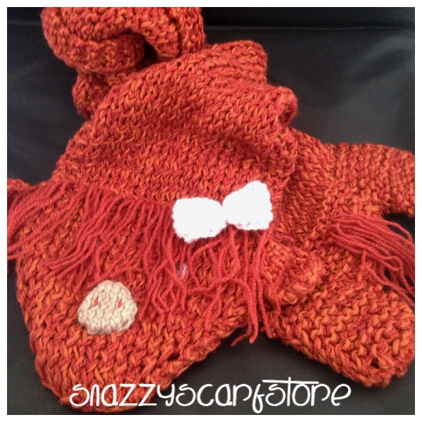 Hand Knitted Hetty The Highland Cow Scarf