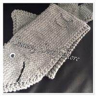Hand Knitted Shaun The Shark Scarf