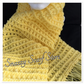 Hand Knitted Yellow Fringe Scarf
