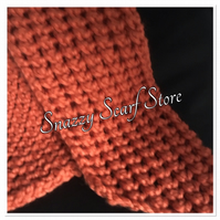 Hand Knitted Burnt Orange Chunky Scarf