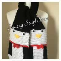 Hand Knitted Percy The Penguin Scarf