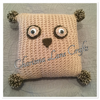 Hand Knitted Ollie The Owl Cushion