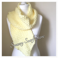 Lemon Tassels Hand Knitted Scarf