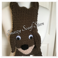 Hand Knitted Dave The Dog Scarf