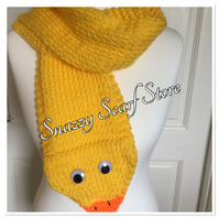Hand Knitted Dizzy The Duck Scarf